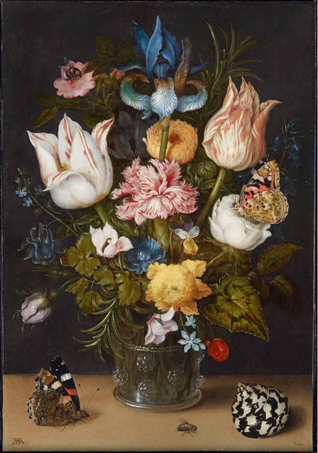 Ambrosius Bosschaert Flowers In A Glass Vase